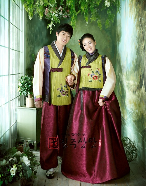 Now we know what you and Danny would've worn at your wedding if you had been Korean! LOL Perfect colors!