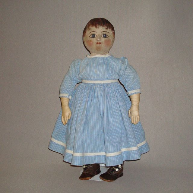 Antique Cloth Doll with oil painted face: Antique Dolls, Dolls Bears, Painted Faces