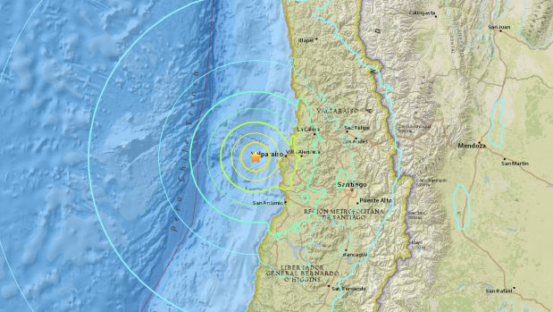 04/25/2017 - A 7.1-magnitude earthquake struck off the west coast of Chile, rocking the capital Santiago. There is no tsunami warning.