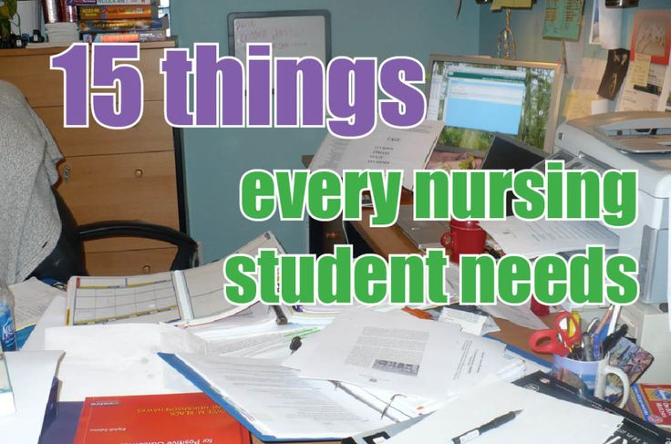 The stuff you REALLY need to survive nursing school!
