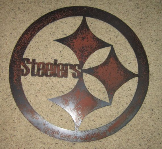 Steelers Football Sign  Custom Wall Art by steelmyart on Etsy, $25.00