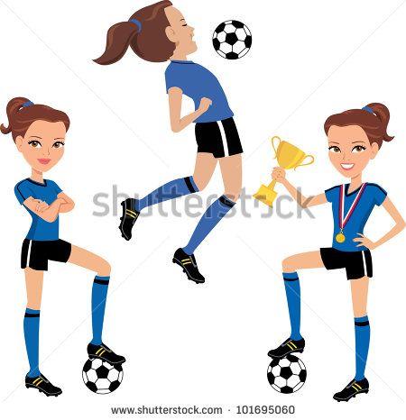 Resultado de imagen para futbol femenino dibujos