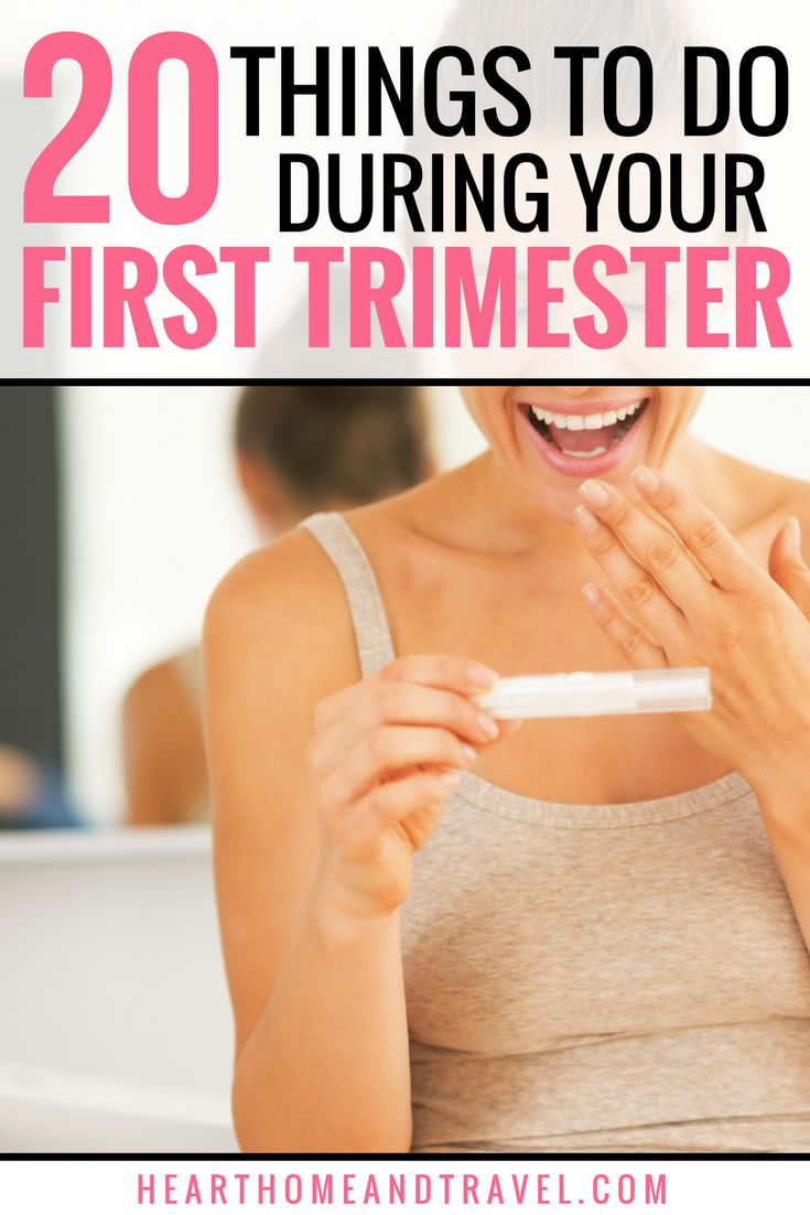 Baby on the way?  It's time to prepare for baby's arrival!  Check out this list of 20 things to do during the first trimester when you find out you're pregnant! 1st Trimester * Tips * First Pregnancy * New Mom *