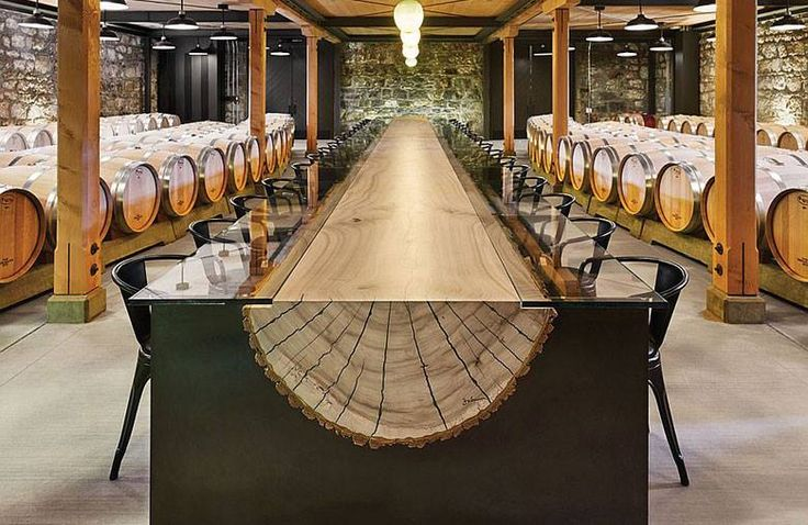 Impressive Tasting Table at the Hall Winery in St. Helena
