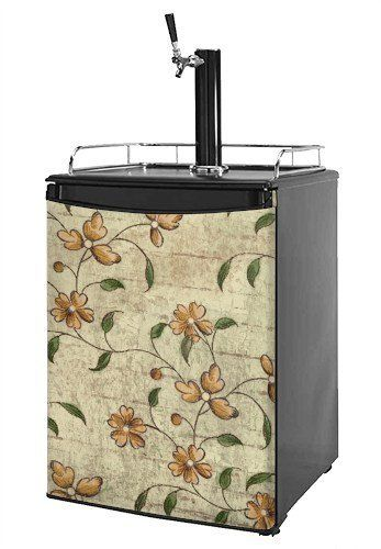 Kegerator Skin - Flowers and Berries Orange (fits medium sized dorm fridge and kegerators) by wallthat. $49.94. 1 Piece Skin - Measures 28.75 inches x 41 inches. READ PRODUCT DESCRIPTION (refrigerator not included). NO STICKY MESS - Leaves no sticky residue when removed.. Made in the U.S.A.. Installation Instructions: Required Tools: Sharp Utility Knife. Our refrigerator skins are made so that one size fits most medium size dorm and keg fridges. This means the skins are slight...