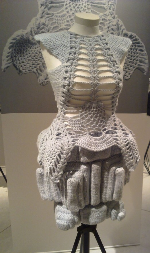 Sandra backlund - lot more technical intricate knitwear, big contrast to my ideas of thick bulky wear.