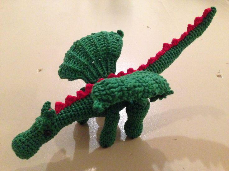 Gehaakte draak/crochet dragon