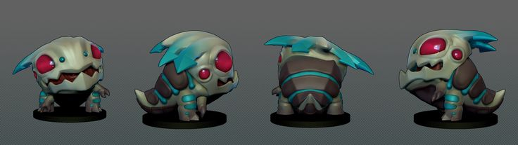 Kogmaw Chibi, Riot Games., Josh Singh on ArtStation at https://www.artstation.com/artwork/kogmaw-chibi-riot-games