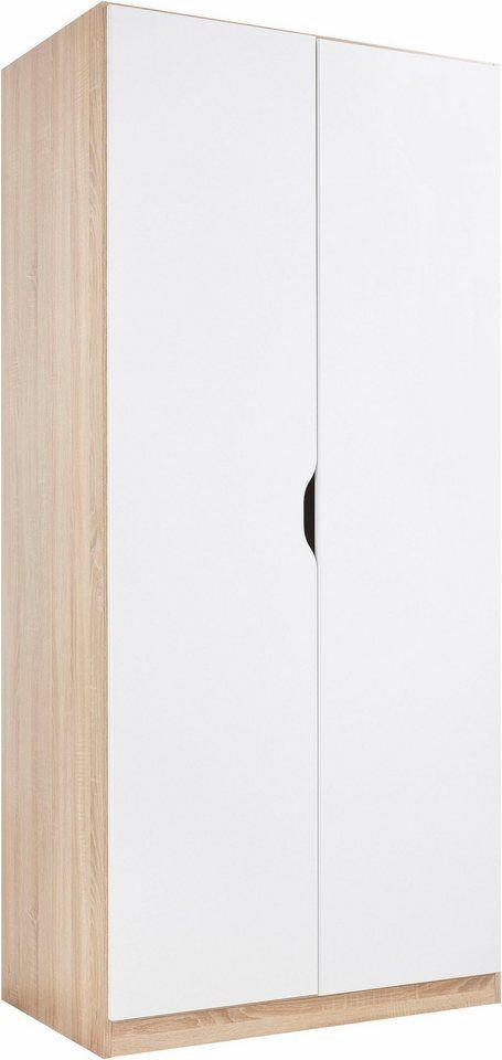rauch PACK`S Kleiderschrank für 99,99€. Moderner Schrank, Türen mit Griffmulden, Eiche-Dekore mit besonderer Haptik, Breite 91 cm, Tiefe/Höhe: 54/197 cm bei OTTO