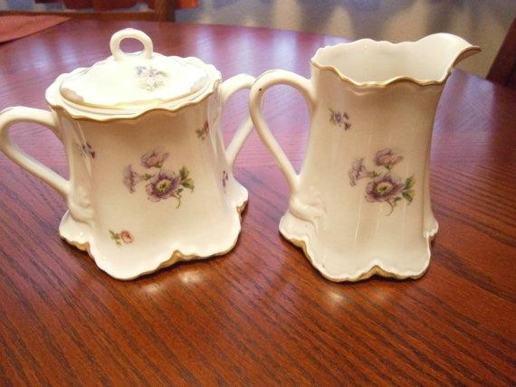 Warwick China Cream and Sugar set floral by catherinefarrens, $19.99