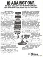 Clarion Magi-Tune FM Car Stereo 1980 Ad Picture
