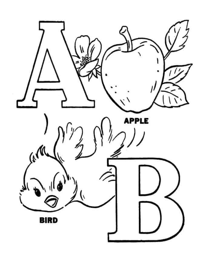 Abc Coloring Pages For Preschoolers Abc Coloring Pages Kindergarten Coloring Pages Abc Coloring