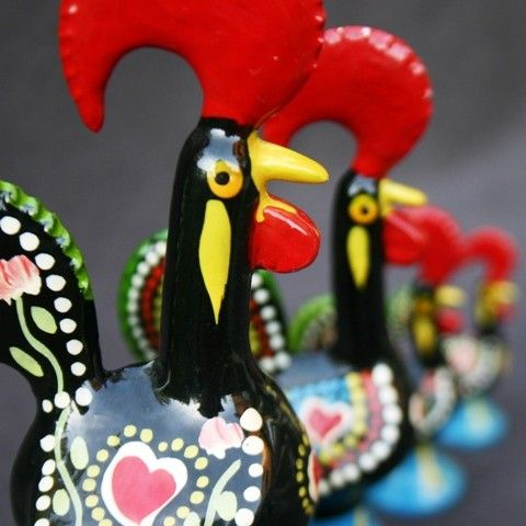Cock of Barcelos figures from Portugal