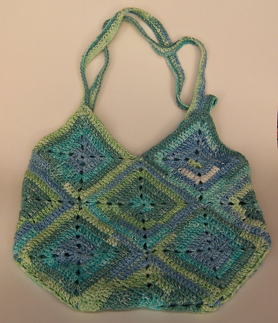 Granny Square Bag crafts Pinterest