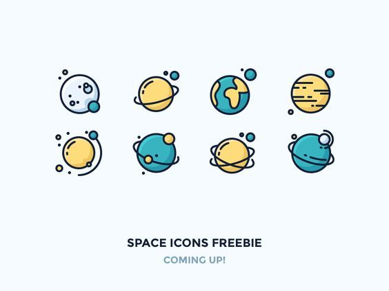 Hey! New and improved version of my Space Icons Freebie is almost ready! Stay tuned guys!   Also I'm launching grumpy t-shirts next week. And my newsletter subscribers will be getting 10% discount!...: