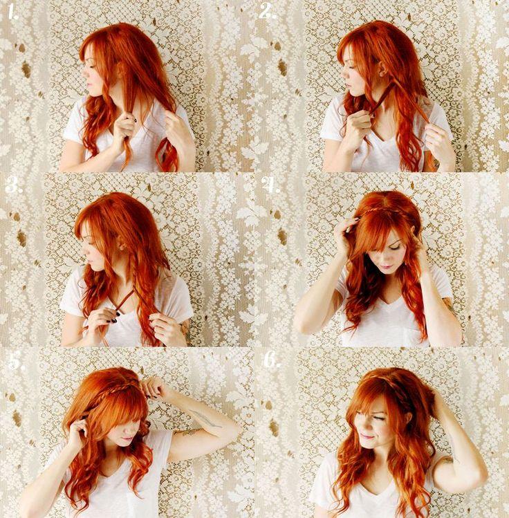 i really wish i could do my own hair.Diy Hairstyles, Hair Tutorials, Hair Colors, Red Hair, Long Hair, Hair Style, Summer Hairstyles, Braids Hair, Maiden Braid
