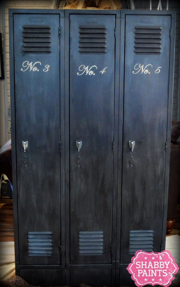 School Lockers get new love with Chalk-Acrylic Paint and Shimmer Finish    Got some old school lockers that need to be repurposed? It is much easier than you think. Transform an old metal cabinet with Shabby Paints. No prep no prime..just paint.