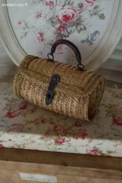 Petit sac ancien pour enfant Brocante de charme atelier cosy.fr