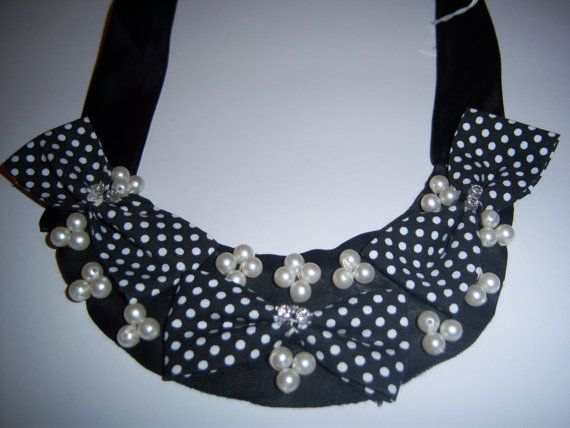 handmade jewelry from fabric and pearls by hara75 on Etsy, $15.00