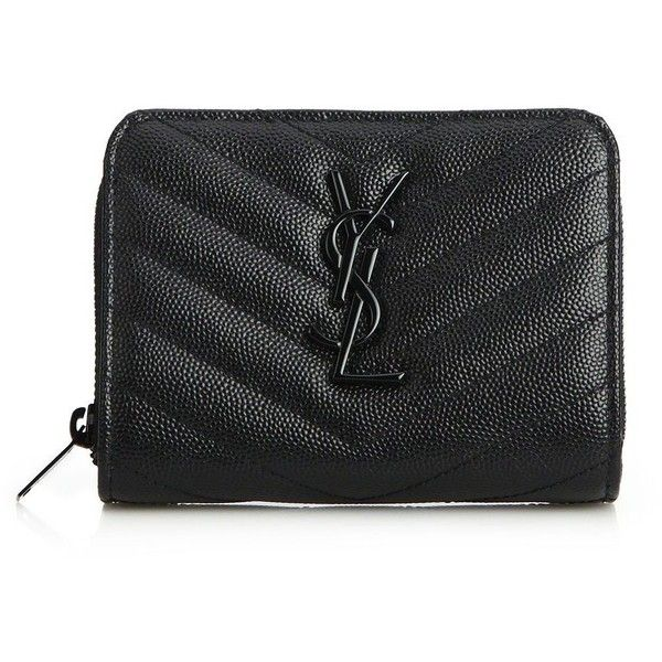Saint Laurent Monogram Textured Matelasse Leather Zip-Around ...
