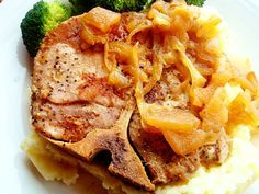 Mel's Kitchen Cafe | Tender Pork Chops with Caramelized Apples and Onions