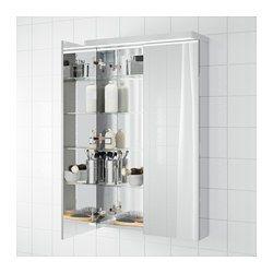 IKEA - GODMORGON, Mobile a specchio con 2 ante, 60x14x96 cm, , 10 anni di garanzia. Scopri i termini e le condizioni nell'opuscolo della garanzia.Specchio sia all'esterno che all'interno.L'anta a specchio si chiude da sé a fine corsa.Il ripiano regolabile è molto resistente al calore e ai colpi e ha un'elevata capacità di carico poiché è in vetro temprato.Ti permette di organizzare i gioielli e i cosmetici.Il dorso dello specchi...