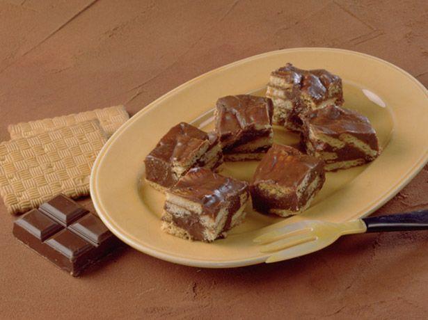 Petits carrés au chocolat biscuité - La Table à Dessert
