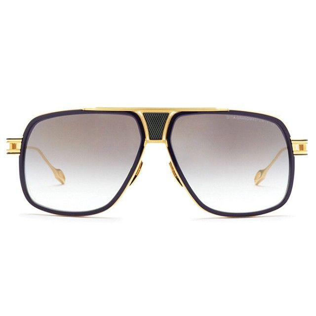 The navy Grandmaster-Five features 18k gold and a dark grey-to-clear lense. Classic yet contemporary, this frame is a stunning marvel of design and manufacturing excellence. #DITAeyewear