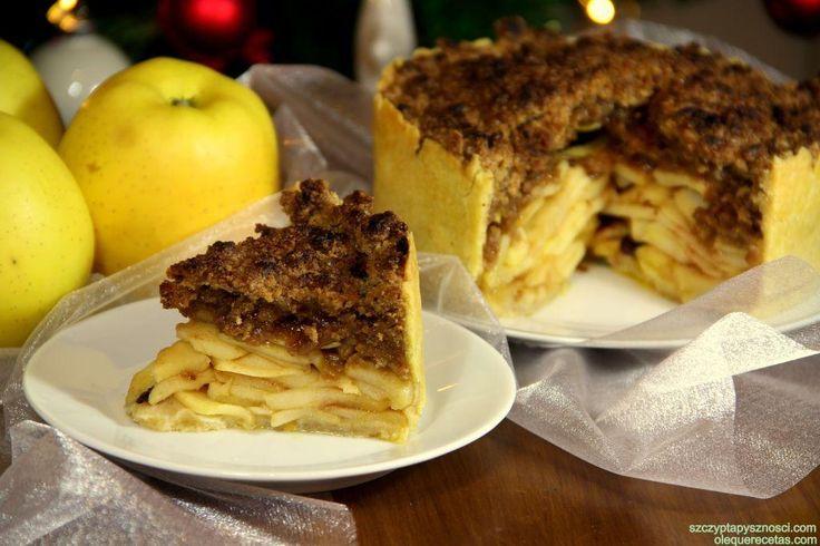 Pastel holandés de manzanas