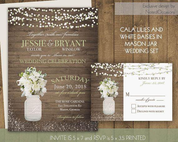 best 25+ mason jar wedding invitations ideas on pinterest | rustic, Wedding invitations
