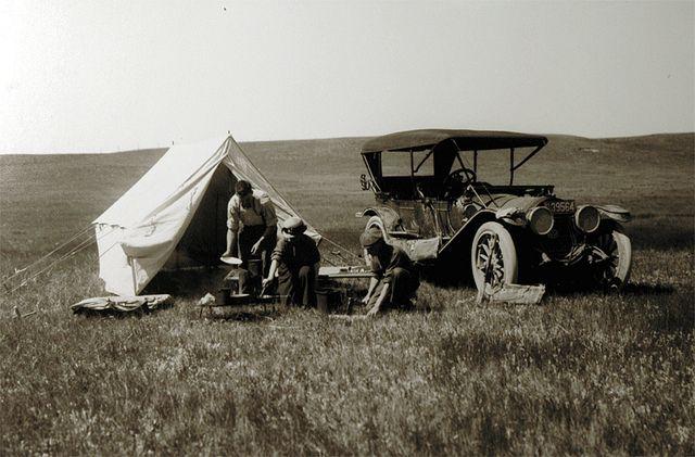 Auto camping near Cheyenne, WY   1914.