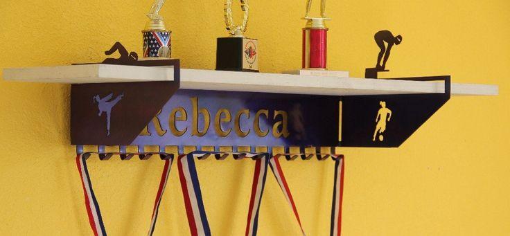 Multi Sport  Female Trophy Shelf and  Personalized Medals Display:  Medals Holder and Medals Hanger #custom-trophy-shelve #dance-medal-hanger #fencing-medal-holder #football-trophy-shelf #gymnastics-medal-hanger #gymnastics-medal-holder #gymnastics-medals-display #medal-display #medal-hanger #medal-hanger-gymnastics #medal-hangers #medal-holder #medal-holder-gymnastics #medal-holder-wrestling #personalized #personalized-gymnastics-medal-display #personalized-trophy-shelf #trophy-shelf…