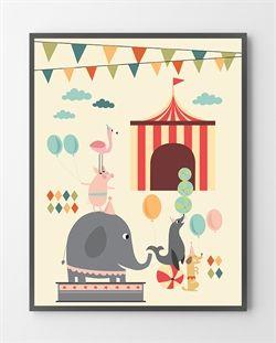En Cirkus plakat er lavet i Limited Edition a 300 stk. - På dette foto er plakaten endnu ikke blevet præget.