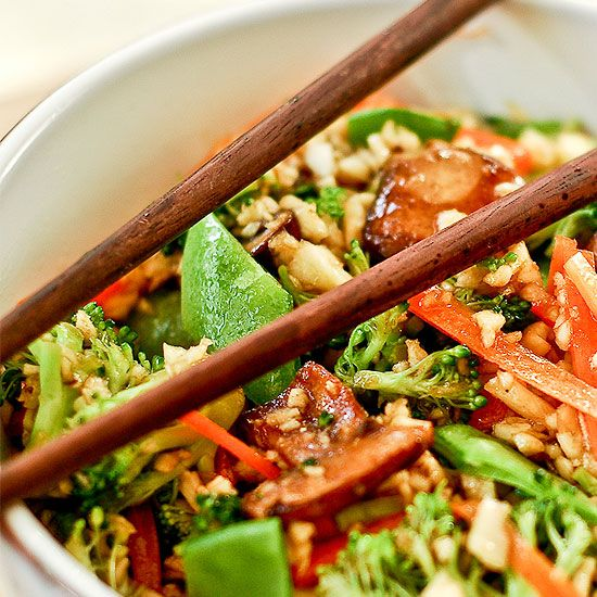 "This delicious raw, vegan stir-fry has all the flavor without the ""fry"". It is delicious and a favorite of our readers. Super healthy, too!"