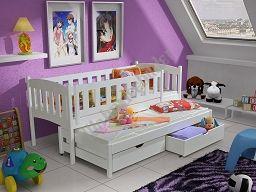 Wir bieten Ihnen das abgebildete Kinderbett AMELIA 80 x 180 cm, umweltfreundlich 3x lackiert für 2 Personen aus Vollholz inkl. Matratzen an. - Wohnideebilder GmbH - Möbel, Polstermöbel, Kinderzimmermöbel, Schlafzimmermöbel, Badezimmermöbel, Etagenbetten für Kinder, COUCH GARNITUR, SOFA, BIG SOFA, WOHNLANDSCHAFT, kaufen.