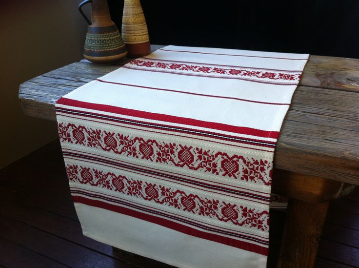 Festive and a little traditional, PIROSKA's Pomegranate weave is a gorgeous addition to any room. Hand loomed Hungarian cotton..easy to use & looks great!  http://piroska.myshopify.com/collections/textiles/products/pomegranate-festive-and-elegant-hand-loomed-cotton-table-runner