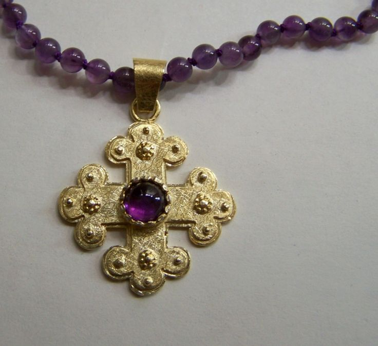 """Glanz und Gloria-Collection"" 2012 - necklace, Silver Gold plated, Amethyst"