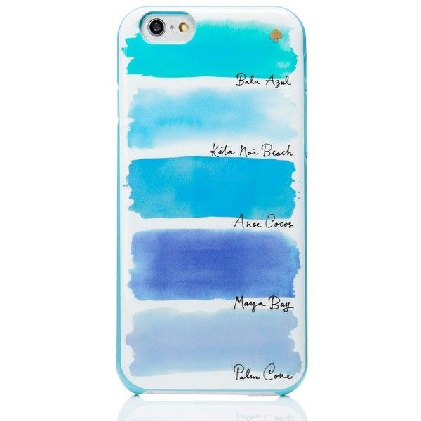 Kate Spade Watercolor Stripe Iphone 6 Case (£28) ❤ liked on Polyvore featuring accessories, tech accessories, phone cases and kate spade