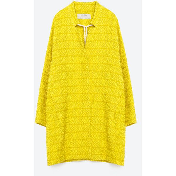 Yellow coat by Zara. So happy I have this one <3