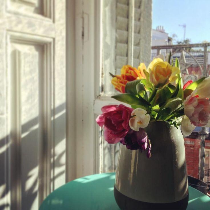 Parece que por fin llega el buen tiempo... . Seems the nice weather is here at last... . #flowers #tulips