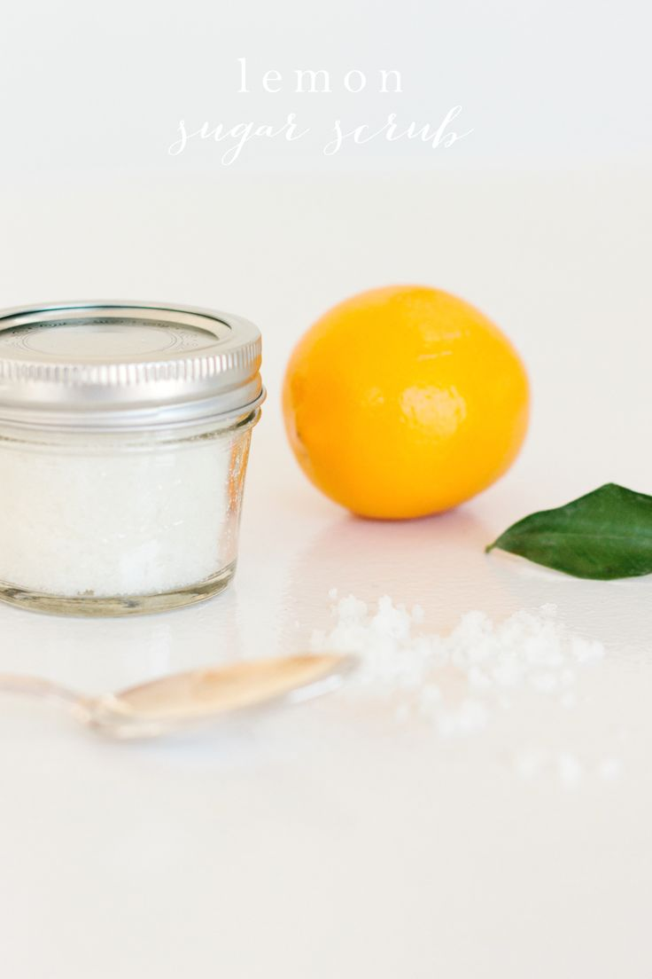 Easy lemon sugar scrub recipe made in your kitchen with just 3 ingredients   natural bath products are quick & easy gifts for Mother's Day & teachers! www.julieblanner.com