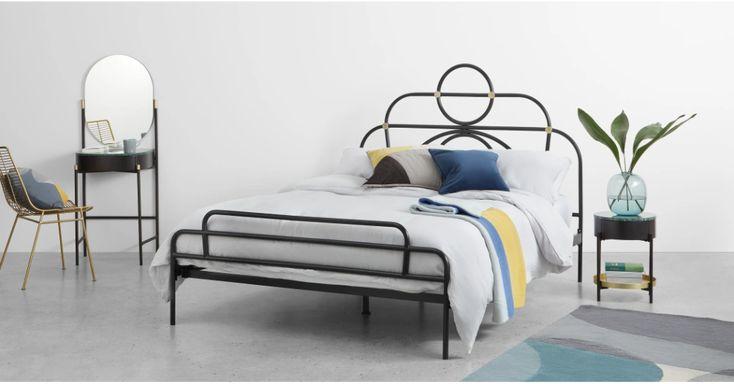 Anthea Metallbett (140 x 200 cm), Schwarz Bett möbel