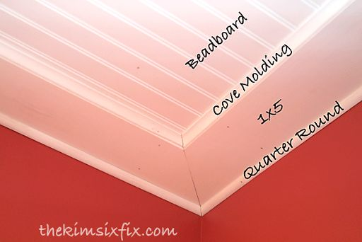 How to Install a Beadboard Paneled Ceiling | The Kim Six Fix