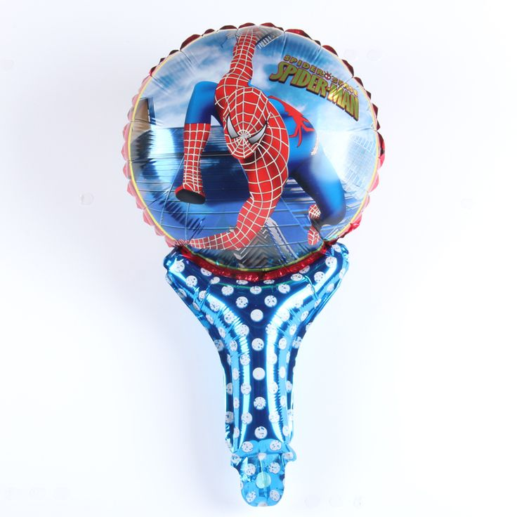 New Mini Spiderman Hand held Balloon Aluminum Foil Balloons Party Decoration Balloons Celebration Supplies