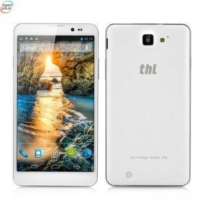 "Thl T200 MTK6592 Octa-Core Mobiltelefon- 6"" Gorilla Glass IPS Capacitive Screen, 1920x1080, 32GB ROM, NFC, Android OS - Hvit kr 3 476,00"