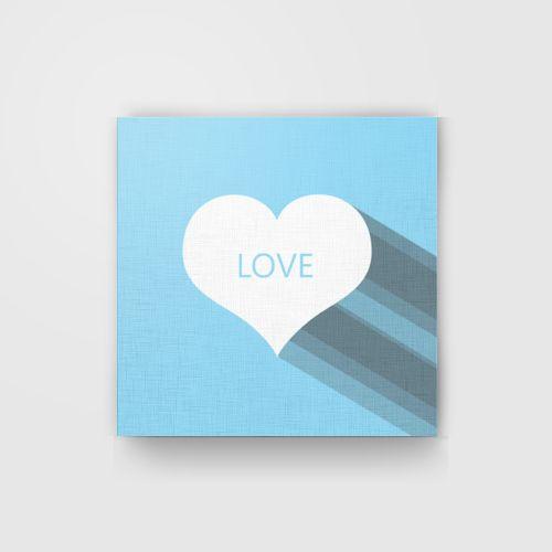 Love Kanvas Biru dari Tees.co.id oleh Handy Production
