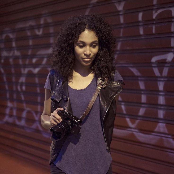 KAWA Pro Strap Lux Brown by KAWA Pro Gear. #streetphotography #curls #model