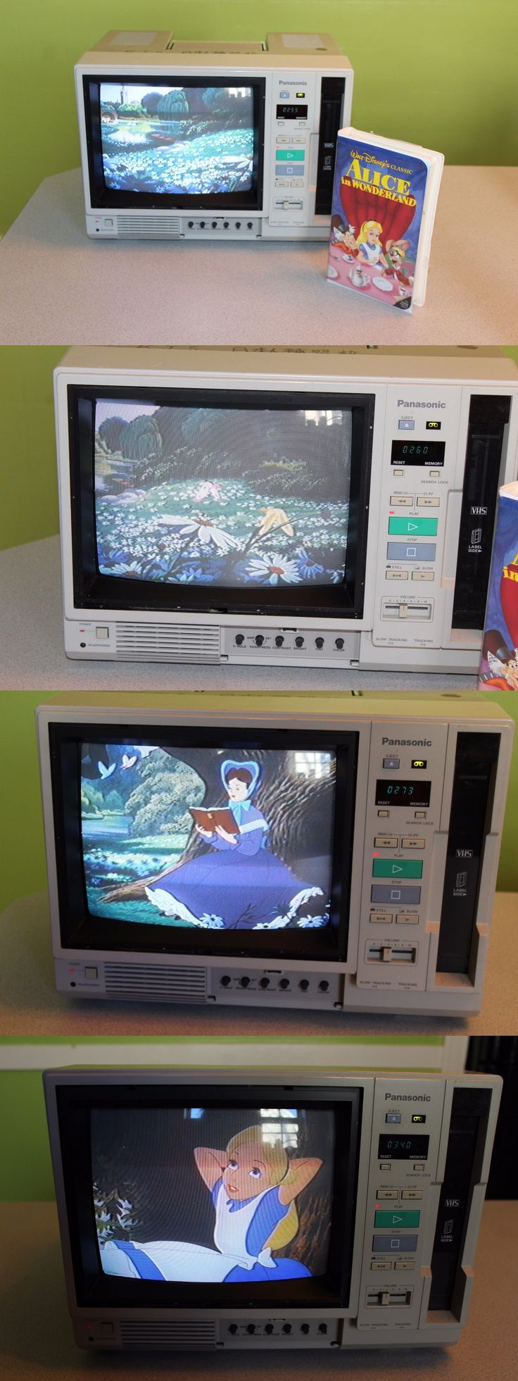 Vintage Televisions: Panasonic Ag-500R Luggable Tv/Vcr Combo Vhs Player BUY IT NOW ONLY: $99.97
