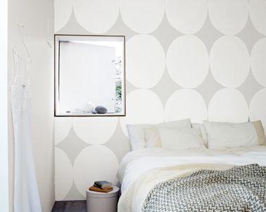 chambre couleur gris et blanc effet texture design