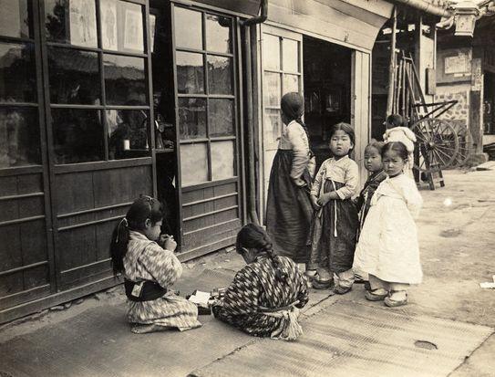 chosun - girls in Japanese and Korean dress